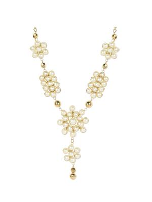 Esmartdeals Esd2454 Gold Plated White Women Necklace Set
