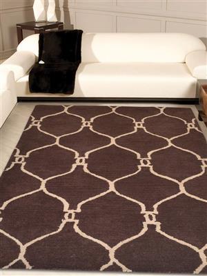 Royzez Handmade Woollen Rug Brown Beige K01000