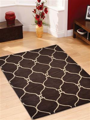 Royzez Handmade Woollen Rug Brown Beige K01004