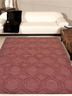 Royzez Handmade Woollen Rug Red K01005