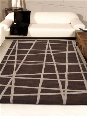 Royzez Handmade Woollen Rug Brown K02001