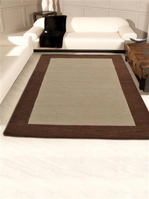 Royzez Handmade Woollen Rug Beige Brown K00201