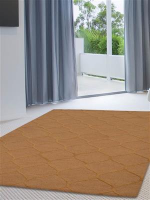 Royzez Handmade Woollen Rug Beige Gold K00237