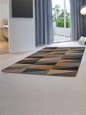 Royzez Handmade Woollen Rug Multicolor K00547
