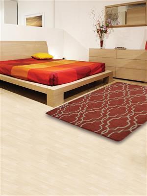 Royzez Handmade Woollen Rug Red Beige K09014