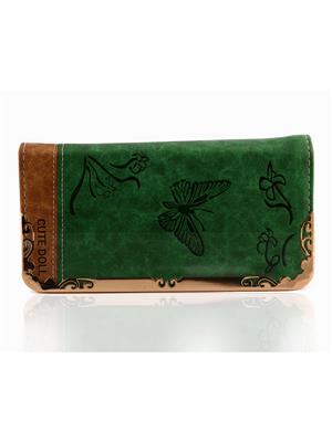 Arisha Ezz21 Green Women Clutch