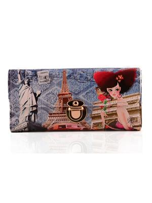 Arisha Ezz30 Blue Women Clutch