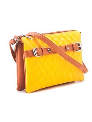 FALAH F172-Y  Yellow Women Sling Bag