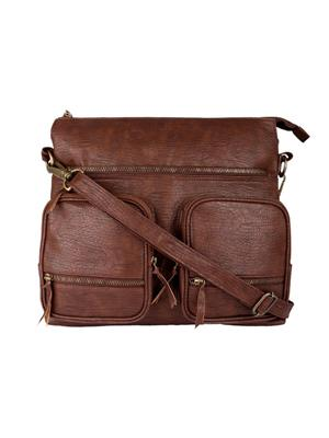 Fine Arch Fahb0010-A Brown Women Sling Bag