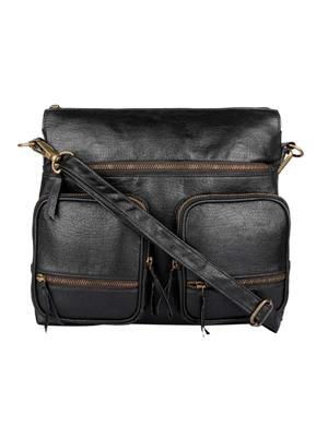 Fine Arch Fahb0010-B Black Women Sling Bag
