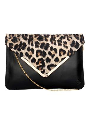 Fine Arch Fasb002 Black Women Sling Bag