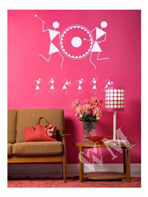 Wallmantra FBD9255867S Multicolored Wall Stickers