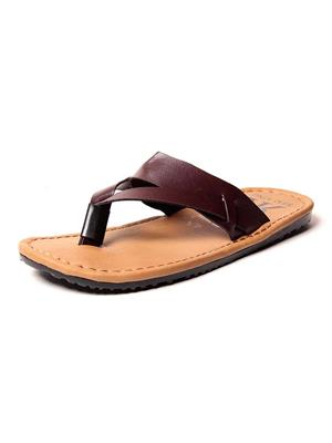 Foot Clone FC-112 Brown Men Slippers
