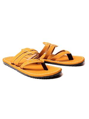 Foot Clone FC-113 Yellow Men Slippers