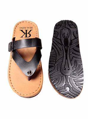 Foot Clone FC-114 Black Men Slippers