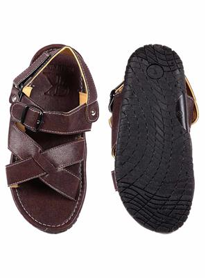 Foot Clone FC-131 Brown Men Floater Sandals