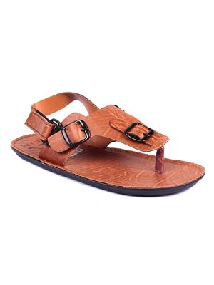 Foot Clone Brown leather Sandals
