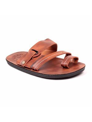 Foot Clone FC-167-D.Tan Men Slipper