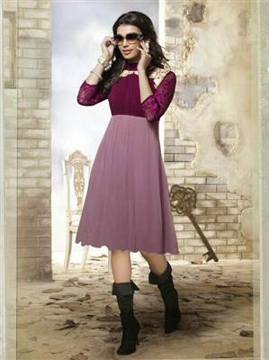 Fiona F-D-10 Purple Women Dress