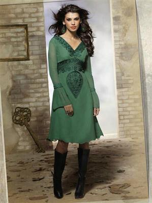 Fiona F-D-11 Green Women Dress