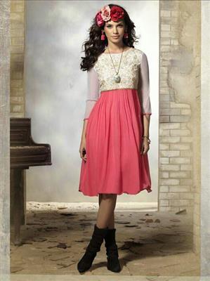 Fiona F-D-15 Pink Women Dress