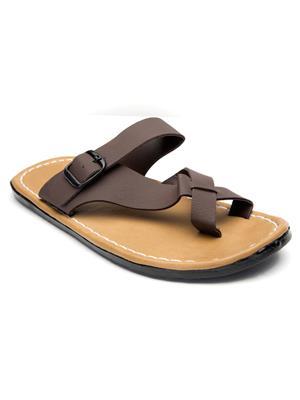 Metmo Ff201503 Brown Men Flipflops