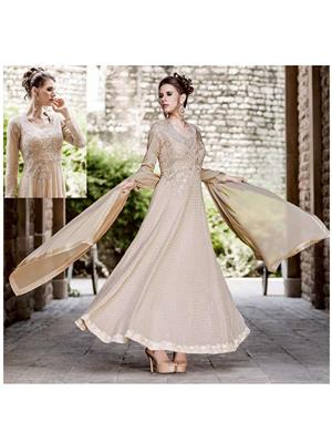 Stylish Fashion FFBELA-1261 Cream Women Anarkali Suit