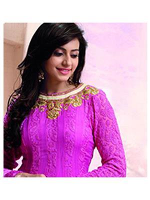 Stylish Fashion FFP6-1077-1 Magenta Women Anarkali Suit