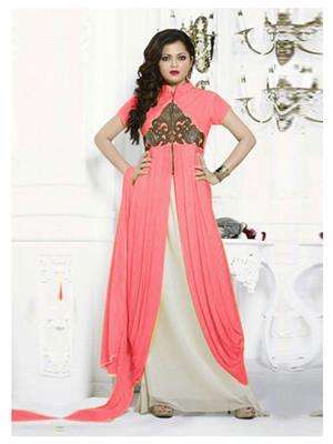 Fabkaz Kfa361-603 Peach Women Salwar Suit