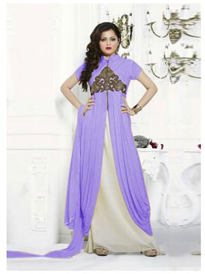 Fabkaz Kfa361-614 Purple Women Salwar Suit