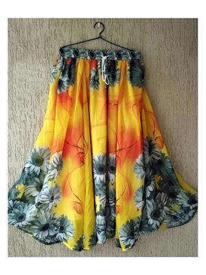 Fastkharidi FKADNSK10 Yellow Women Skirt