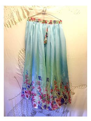 Fastkharidi FKADNSK6 Sky Blue Women Skirt