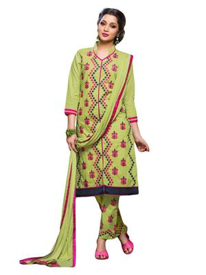 Fabkaz Fkd-S080 Light Parrot Women Salwar Suit