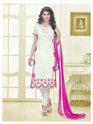 Fabkaz Fkd10-4006 White Women Salwar Suit