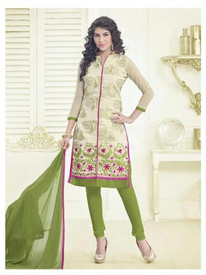 Fabkaz Fkd10-4010 Cream Women Salwar Suit