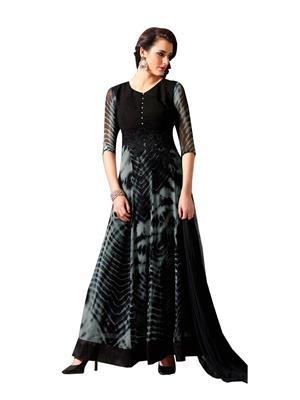 Fabkaz Fkd793-10025 Grey-Black Women Salwar Suit
