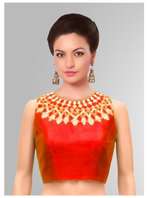 Fastkharidi FKFBB024 Red Women Unstitched Blouse Material