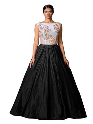 Fastkharidi Fkfbg014 Black-White Women Gown