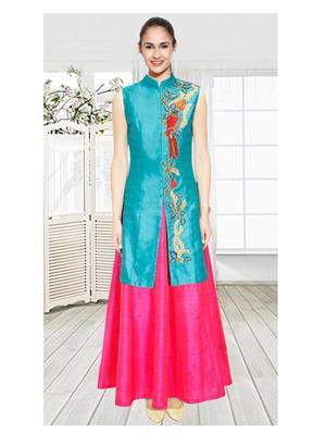 Fastkharidi Fkfbl022 Pink-Turquoise Women Lehenga Choli