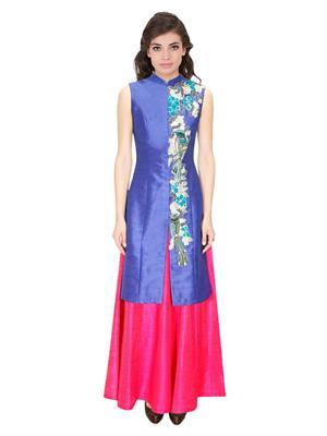 Fastkharidi Fkfbl026 Navy Blue-Pink Women Lehenga Choli