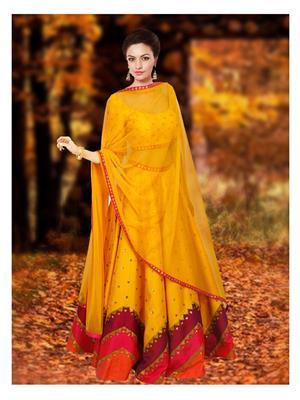 Fastkharidi Fkfbl062 Yellow Women Lehenga Choli