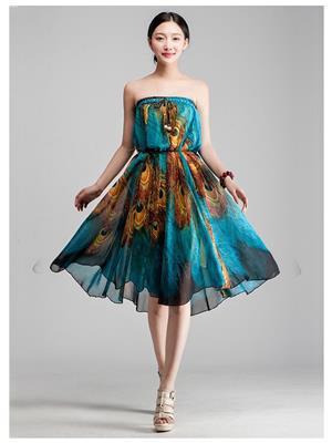 Fastkharidi FKFBST025 Sky Blue Women Skirt