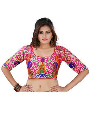 Fastkharidi Fkkbb002 Multicolored Women Blouse Un-Stitched