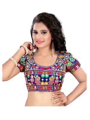 Fastkharidi Fkkbb005 Multicolored Women Blouse Un-Stitched