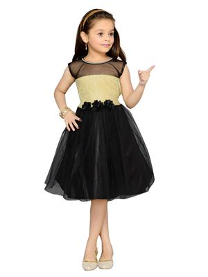 Aarika Fk-1000-Black Girls Frock