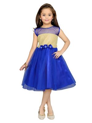Aarika Fk-1000-Blue Girls Frock