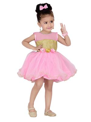 Aarika Fk-1000-Pink Girls Frock