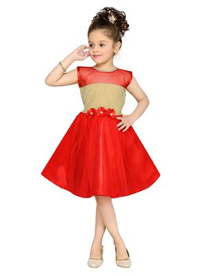 Aarika Fk-1000-Red Girls Frock