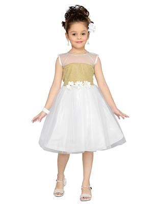 Aarika Fk-1000-White Girls Frock