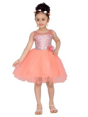 Aarika Fk-2230-Peach Girls Frock